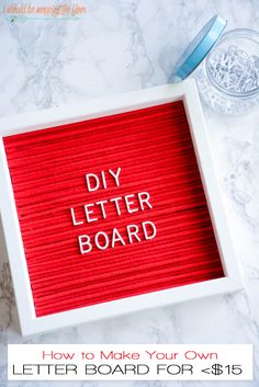 DIY Letter Board | Complete photo tutorial on how to create your own custom (FUN!) letter board for less than $15.  The colors and possibilities are endless!