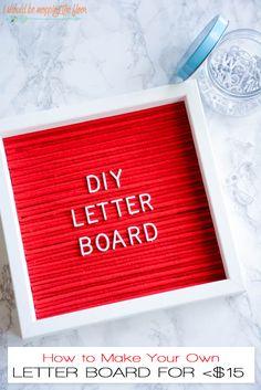DIY Letter Board | C