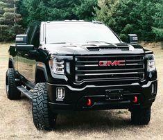 What a great Jacked Black GMC Sierra truck - greatest detail Gm Trucks, Jeep Truck, Diesel Trucks, Lifted Trucks, Cool Trucks, Chevy Trucks, Pickup Trucks, Chevy C10, Cummins Diesel
