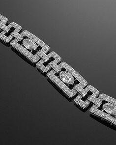Art Deco Marquise Diamond Bracelet, circa 1930_ Fred Leighton