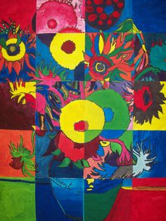 my artful nest: Collaborative Copying of the Masters Class Art Projects, Classroom Art Projects, Art Classroom, Classroom Displays, School Projects, Classroom Ideas, Artist Van Gogh, Van Gogh Art, Popsicle Art