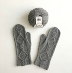 Lovely grey mittens from gorgeous fonty