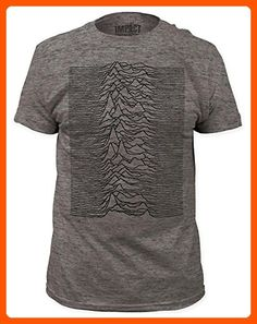 Joy Division - Unknown Pleasures Heather (slim fit) T-Shirt Size S - Cool and funny shirts (*Amazon Partner-Link)