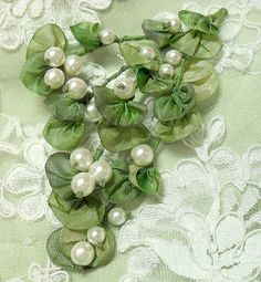 Wonderful Ribbon Embroidery Flowers by Hand Ideas. Enchanting Ribbon Embroidery Flowers by Hand Ideas. Ribbon Embroidery Tutorial, Silk Ribbon Embroidery, Embroidery Applique, Embroidery Stitches, Embroidery Patterns, Embroidery Machines, Ribbon Art, Ribbon Crafts, Ribbon Flower