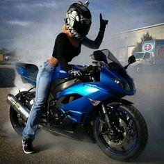 "Motorcycle Women - ""backpacks"" this made me laugh Yamaha R1, Ducati, Lady Biker, Biker Girl, Mv Agusta, Course Moto, Chicks On Bikes, Honda, Motorbike Girl"