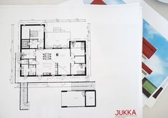 TÄSSÄ ON MEIDÄN TULEVA TALO My Dream Home, House Plans, New Homes, Floor Plans, Layout, Flooring, How To Plan, Architecture, Dream Houses