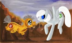 Wall-E and Eve Ponified by ValkyrieSkies.deviantart.com