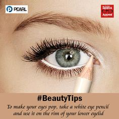 for your To make your eyes pop, take a white eye pencil and use it on the rim of your lower eyelid. Makeup Tips, Beauty Makeup, Hair Beauty, Makeup Ideas, White Eye Pencil, Baby Spice, Eyeliner, Eyeshadow, Le Clown