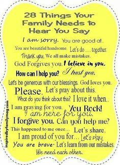 "Positive Parenting words....use them more...use this with the ""In this house we..."" wall art"