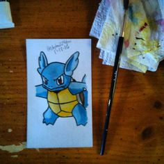 On instagram by stephen224glen #supernintendo #microhobbit (o) http://ift.tt/1WuZwhi and painting of Wartortle. Honestly I think I need still need to make some improvements but overall it's looking real nice. Follow me @stephen224glen I still got more paintings in progress.  #art #drawing #painting #sketch #anime #animeart #nintendo #nintendo64  #pokemon #pokemonart #wartortle