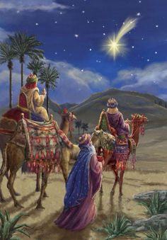 The Star of Bethlehem.The three wise men Christmas Nativity Scene, Christmas Scenes, Christmas Pictures, Christmas Holidays, Merry Christmas, The Nativity, Christmas Greetings, Nativity Scenes, Christmas Bells