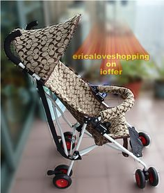 coach signature print baby stroller