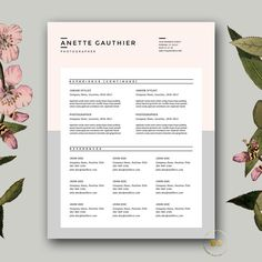 Creative Resume Design For Ms Word By Botanica Paperie On
