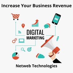 Looking for your business growth? Then Digital marketing is best way to increase your business revenue with Netweb Technologies. We help you with new techniques of digital marketing and SEO. Contact us now. Digital Marketing Services, Seo Services, Seo Company, Design Development, Web Design, Letters, Technology, Business, Tech