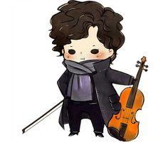 Sherlock and his violin. Sherlock Fandom, Benedict Cumberbatch Sherlock, Sherlock John, Sherlock Fan Art, Johnlock, Sherlock Holmes Dibujos, The Paradise Bbc, Sherlock Drawing, Mrs Hudson