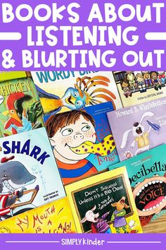 Are your kinders having trouble listening? Is blurting out a big problem in your classroom? This book list is a great way to address these topics with your students. Discuss the topics and find a way to correct these issues. Find your full list of books here! Teaching Kindergarten, Student Learning, Clark The Shark, Blurting Out, List Of Resources, Job Help, Up To Something, Great Schools, Good Listener