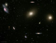 In the heart of the Virgo cluster.