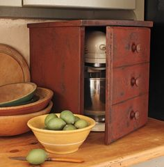 Primitive Kitchen Aid cover.....so you don't have to break your shoulder taking it off of the pantry shelf!