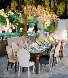 Stunning garden dining