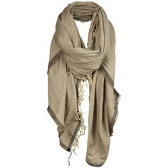 Como Scarf ($50) ❤ liked on Polyvore featuring accessories, scarves, sciarpe, lenços, women, allsaints, square scarves and striped scarves