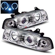 92-98 BMW E36 2 Door Halo Projector Headlights - Chrome