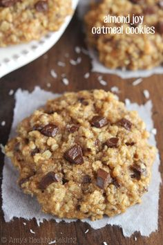 Almond Joy Oatmeal Cookies