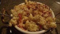 Lobster mac and cheese from western door steakhouse at seneca niagara