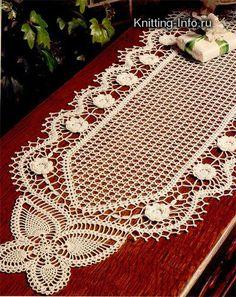 شغل ابره NEEDLE CRAFTS: مفرش كروشيه لمنتصف الطاوله- center table crochet doily