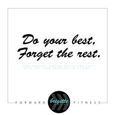 Do your Best. Forward Fitness