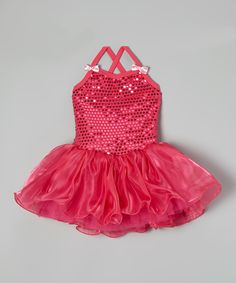 Love this Hot Pink Sequin Organdy Ballet Dress - Infant, Toddler & Girls by Wenchoice on #zulily! #zulilyfinds