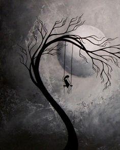 Surreal Fantasy Art Print Set Heartache and Poetry 53 by Jaime Best from BestArtStudios Sabine Sina Nitsch Sad Drawings, Dark Art Drawings, Pencil Art Drawings, Unique Drawings, Dark Fantasy Art, Art Triste, Tatoo Tree, Art Sinistre, Surreal Art