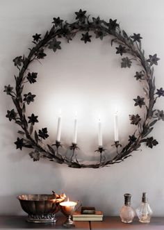 charming...can be done in greens with candle accent....fuller to look even better.