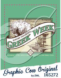 Greek Week Cotton and Rocking Chair Design #greekweek #grafcow