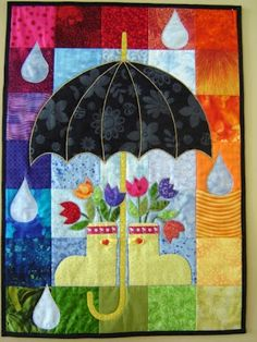 cute little April showers quilt.