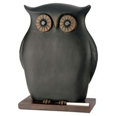 Pen a short to-do list or personal reminders on this charming owl statuette