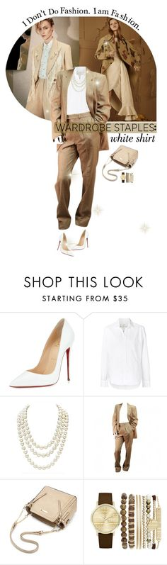 """""""~Wardrobe Staples: White Shirt~"""" by amethyst0818 ❤ liked on Polyvore featuring Christian Louboutin, Frank & Eileen, Chanel, Yves Saint Laurent, Jessica Carlyle and vintage"""