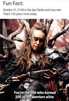 The 100 - Part II When nuclear Armageddon destroys civilization on Earth, the only survivors are those on the 12 international space stations in orbit Lexa The 100, The 100 Clexa, The 100 Poster, Commander Lexa, Lgbt, 100 Memes, Alycia Jasmin Debnam Carey, Clarke And Lexa, The 100 Show