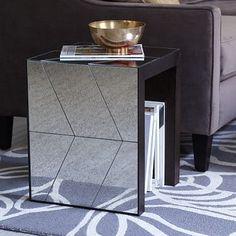 herringbone mirror coffee table | west elm buy two? $379 each, 48