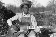 1930's photo of Mississippi Fred McDowell.