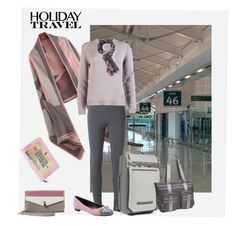"""""""Holiday Travel"""" by annie9295 on Polyvore featuring Ermanno Scervino, Miu Miu, Timbuk2, OGIO, Tod's, Jessica Simpson, Suzusan and Wild & Wolf"""