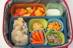 Bento Lunch Ideas: Week 1 (Smashed Peas and Carrots) Toddler Meals, Kids Meals, Toddler Food, Silicone Cupcake Liners, Bento Box Lunch, Bento Lunchbox, Baby Carrots, Ranch Dressing, Nut Free