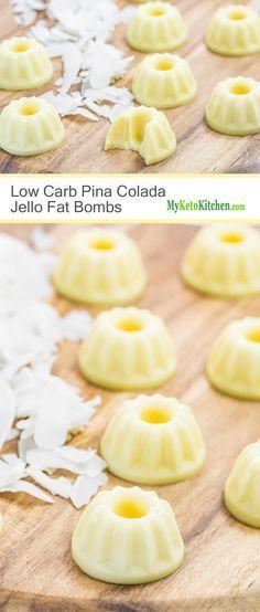 Low Carb Pina Colada Fat Bombs (Gluten Free, Keto)