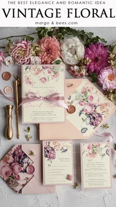 wedding invitations spring Pastel pink and vitnage floral? Its perfect wedding match Pastel pink and vitnage floral? Its perfect wedding match Diy Invitations, Elegant Wedding Invitations, Wedding Invitation Cards, Debut Invitation, Invitations Online, Flower Invitation, Invitation Templates, Invites, Wedding Matches