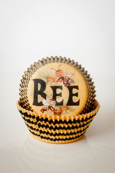 BEE~Set of 50 Bee Party Cupcake Liners Black and Yellow.  via Etsy.