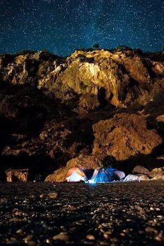 Sleeping below the stars #Sougia #southwest #Crete #Greece
