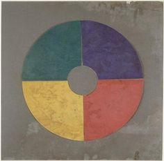 Cercle de quatre couleurs selon Ostwald. Photo (C) Centre Pompidou, MNAM-CCI, Dist. RMN-Grand Palais / Jacques Faujour #cercle #motif