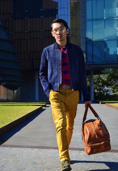 He's  always colourful & always urbane, Henry Ng from Street Style Poser travels in style, even when just going down the road! Cocktail Revolution www.cocktailrevolution.net.au