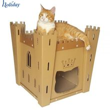 Cat's Fortress Cardboard Cat House – medieval toy for your fluffy Cat Playhouse, Cardboard Playhouse, Dog Houses, Play Houses, Cardboard Cat House, Bunny Room, Animal Projects, Animal House, Cat Toys