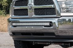 Rough Country's 40-inch Curved LED Bumper Mount is the perfect mounting solution to add unyielding LED power to the front of your 2010 - 2016 Dodge RAM 2500/3500.