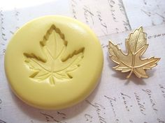 MAPLE LEAF (medium) - Flexible Silicone Mold - Push Mold, Jewelry Mold, Polymer Clay Mold, Resin Mold, Craft Mold, Food Mold, PMC Mold. $4.99, via Etsy.